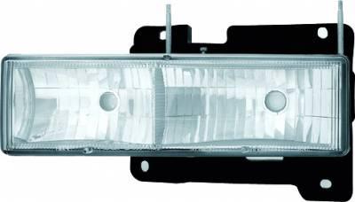 Headlights & Tail Lights - Headlights - In Pro Carwear - Chevrolet CK Truck IPCW Headlights - Diamond Cut - 1 Pair - CWS-330