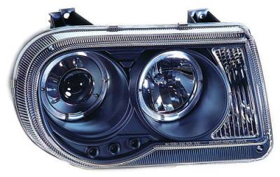 Headlights & Tail Lights - Headlights - In Pro Carwear - Chrysler 300 IPCW Headlights - Projector with Rings - 1 Pair - CWS-412B2
