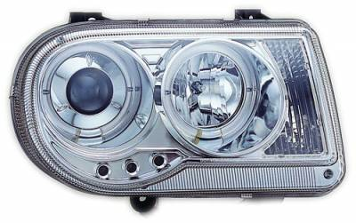 Headlights & Tail Lights - Headlights - In Pro Carwear - Chrysler 300 IPCW Headlights - Projector with Rings - 1 Pair - CWS-412C2