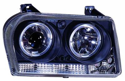 Headlights & Tail Lights - Headlights - In Pro Carwear - Chrysler 300 IPCW Headlights - Projector with Rings - 1 Pair - CWS-413B2