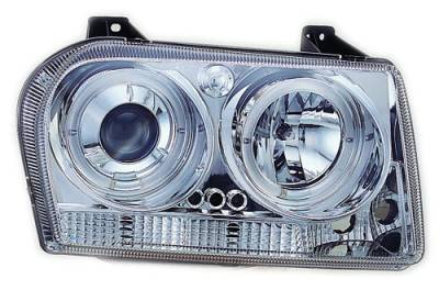 Headlights & Tail Lights - Headlights - In Pro Carwear - Chrysler 300 IPCW Headlights - Projector with Rings - 1 Pair - CWS-413C2