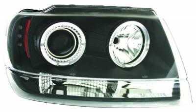 Headlights & Tail Lights - Headlights - In Pro Carwear - Jeep Grand Cherokee IPCW Headlights - Projector - 1 Pair - CWS-5002B2