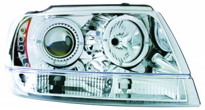 Headlights & Tail Lights - Headlights - In Pro Carwear - Jeep Grand Cherokee IPCW Headlights - Projector - 1 Pair - CWS-5002C2