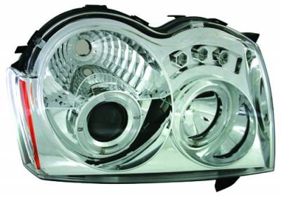 Headlights & Tail Lights - Headlights - In Pro Carwear - Jeep Grand Cherokee IPCW Headlights - Projector - 1 Pair - CWS-5005C2