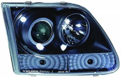 Headlights & Tail Lights - Headlights - In Pro Carwear - Ford F250 IPCW Headlights - Projector with Rings - 1 Pair - CWS-501B2