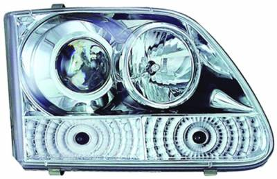 Headlights & Tail Lights - Headlights - In Pro Carwear - Ford Expedition IPCW Headlights - Projector with Rings - 1 Pair - CWS-501C2