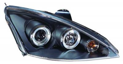 Headlights & Tail Lights - Headlights - In Pro Carwear - Ford Focus IPCW Headlights - Projector with Rings - 1 Pair - CWS-525B2