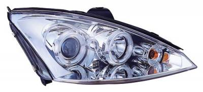 Headlights & Tail Lights - Headlights - In Pro Carwear - Ford Focus IPCW Headlights - Projector with Rings - 1 Pair - CWS-525C2