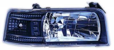 Headlights & Tail Lights - Headlights - In Pro Carwear - Ford F250 IPCW Headlights - Diamond Cut with Corners - 1 Pair - CWS-530B2