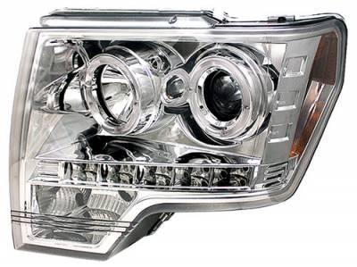 Headlights & Tail Lights - Headlights - In Pro Carwear - Ford F250 In Pro Carwear Projector Headlights - CWS-568C2
