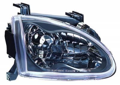 Headlights & Tail Lights - Headlights - In Pro Carwear - Honda Del Sol IPCW Headlights - Diamond Cut - 1 Pair - CWS-740B2