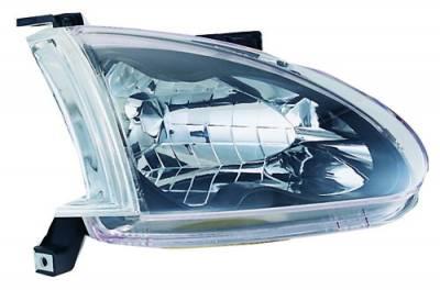 Headlights & Tail Lights - Headlights - In Pro Carwear - Honda Del Sol IPCW Headlights - Diamond Cut - 1 Pair - CWS-740C2