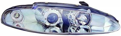 Headlights & Tail Lights - Headlights - In Pro Carwear - Mitsubishi Eclipse IPCW Headlights - Projector with Rings - 1 Pair - CWS-903C2