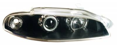 Headlights & Tail Lights - Headlights - In Pro Carwear - Mitsubishi Eclipse IPCW Headlights - Projector with Rings - 1 Pair - CWS-904B2