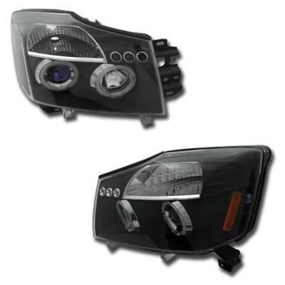 Headlights & Tail Lights - Headlights - MotorBlvd - Nissan Titan & Armada Headlights