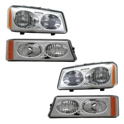 Headlights & Tail Lights - Headlights - MotorBlvd - Chevrolet Avalance & Silverado Headlights