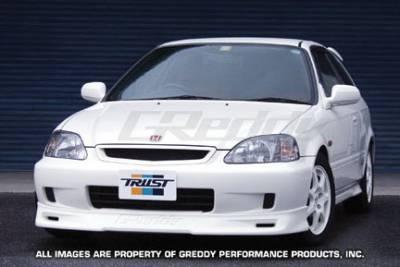 Greddy - Honda Civic Greddy Gracer Aero-Style Front Lip Spoiler - Urethane - 17050042