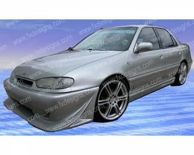 Elantra - Front Bumper - FX Designs - Hyundai Elantra FX Design Xtreme Style Front Bumper Cover - FX-1060