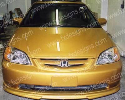 FX Design - Honda Civic FX Design Front Air Dam - FX-760