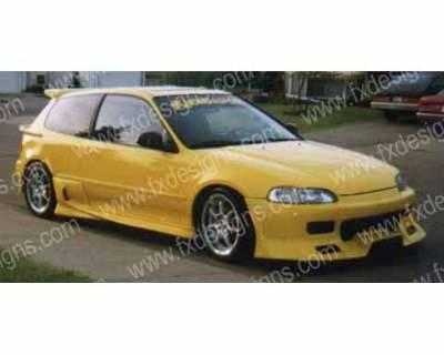 FX Design - Honda Civic FX Design Front Bumper Cover - FX-90