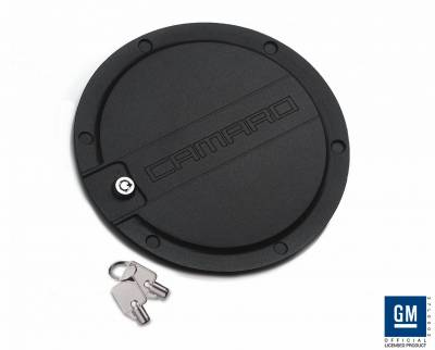 Accessories - Fuel Tank Covers - Defenderworx - Chevrolet Camaro Defenderworx Fuel Door - Black - CB1006