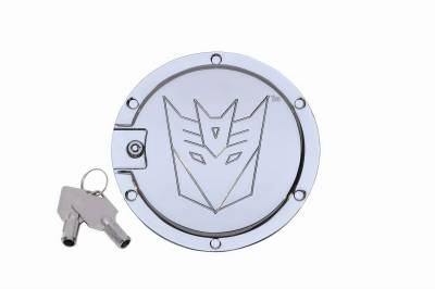 Accessories - Fuel Tank Covers - Defenderworx - Chevrolet Camaro Defenderworx Transformers Decepticon Locking Fuel Door - Two Tone - Two-Tone - TC1005
