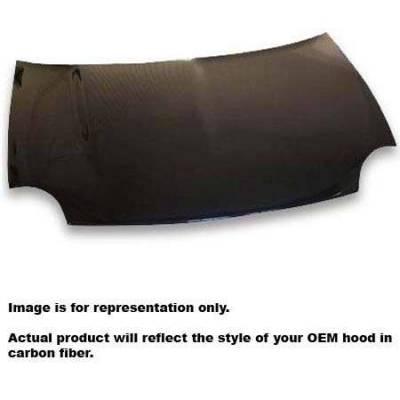 JSP America - JSP America Carbon Fiber Hood with Vent - CFH002MF