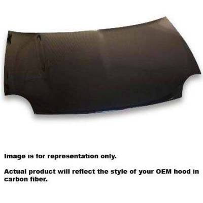 JSP America - JSP America Carbon Fiber Hood with Vent - CFH003MF