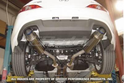 Exhaust - Greddy - Greddy - Hyundai Genesis Greddy Racing Ti-C Catback Exhaust System with Dual Mufflers - 10107901