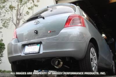 Exhaust - Greddy - Greddy - Toyota Yaris Greddy Racing Ti-C Catback Exhaust System - 10117902