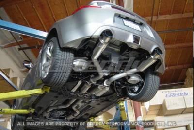 Exhaust - Greddy - Greddy - Nissan 370Z Greddy Turbo Racing Ti-C Catback Exhaust System with Dual Mufflers - 10127911
