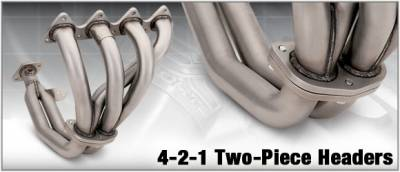 Exhaust - Headers - DC Sports - 4-2-1 Ceramic Exhaust Header - 2PC - HHC5029