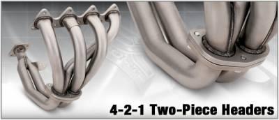 Exhaust - Headers - DC Sports - 4-2-1 Ceramic Exhaust Header - 2PC - HHR5019