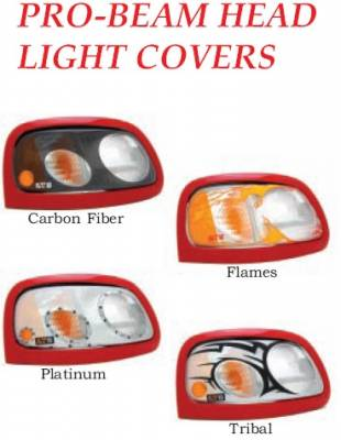 Headlights & Tail Lights - Headlight Covers - GT Styling - Honda Civic 4DR GT Styling Probeam Headlight Cover