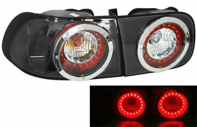 Matrix - Black LED Euro Taillights - 09260LBH