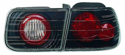 Headlights & Tail Lights - Led Tail Lights - In Pro Carwear - Honda Civic 4DR In Pro Carwear Crystal Taillights - CWT-733B4