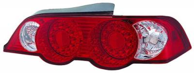 In Pro Carwear - Acura RSX IPCW Taillights - LED - Ruby Red - 1 Pair - LEDT-109R2