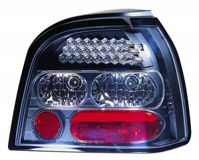 Headlights & Tail Lights - Led Tail Lights - In Pro Carwear - Volkswagen Golf IPCW Taillights - LED - 1 Pair - LEDT-1501B2
