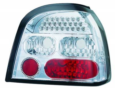 Headlights & Tail Lights - Led Tail Lights - In Pro Carwear - Volkswagen Golf IPCW Taillights - LED - 1 Pair - LEDT-1501C2