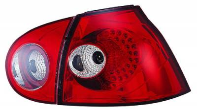 Headlights & Tail Lights - LED Tail Lights - In Pro Carwear - Volkswagen Golf GTI IPCW Taillights - LED - 1 Pair - LEDT-1503R2