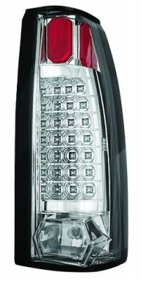 Headlights & Tail Lights - Led Tail Lights - In Pro Carwear - Cadillac Escalade IPCW Taillights - 21 LEDs - Crystal Clear - 1 Pair - LEDT-301C