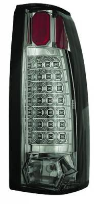Headlights & Tail Lights - Led Tail Lights - In Pro Carwear - Cadillac Escalade IPCW Taillights - 21 LEDs - Platinum Smoke - 1 Pair - LEDT-301CS