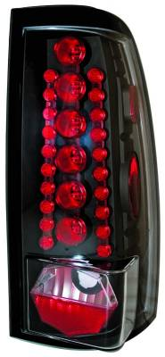 Headlights & Tail Lights - Led Tail Lights - In Pro Carwear - GMC Sierra IPCW Taillights - LED - 1 Pair - LEDT-3039CB