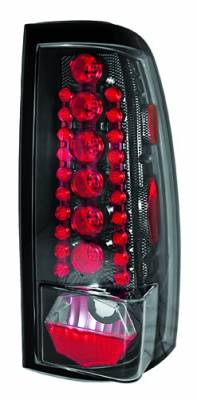 Headlights & Tail Lights - Led Tail Lights - In Pro Carwear - Chevrolet Silverado IPCW Taillights - LED - 1 Pair - LEDT-3039CF
