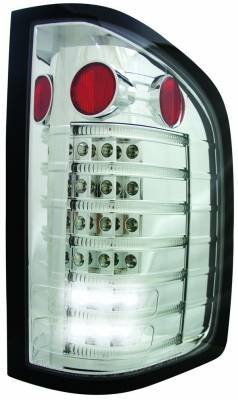 Headlights & Tail Lights - Led Tail Lights - In Pro Carwear - GMC Sierra IPCW Taillights - Fiber Optic & LED - 1 Pair - LEDT-3040C