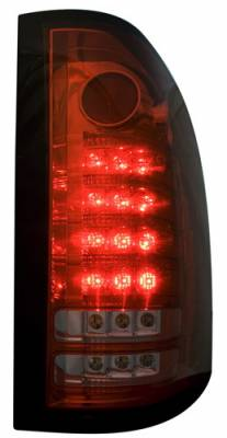 Headlights & Tail Lights - Led Tail Lights - In Pro Carwear - GMC Sierra IPCW Taillights - Fiber Optic & LED - 1 Pair - LEDT-3040CR