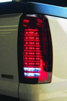 Headlights & Tail Lights - LED Tail Lights - In Pro Carwear - Chevrolet Avalanche IPCW Taillights - Fiber Optic & LED - 1 Pair - LEDT-360CR