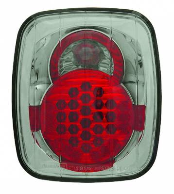 Headlights & Tail Lights - LED Tail Lights - In Pro Carwear - Jeep Wrangler IPCW Taillights - LED - 1 Pair - LEDT-407CS
