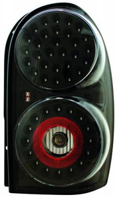 Headlights & Tail Lights - LED Tail Lights - In Pro Carwear - Jeep Liberty IPCW Taillights - LED - 1 Pair - LEDT-410CB