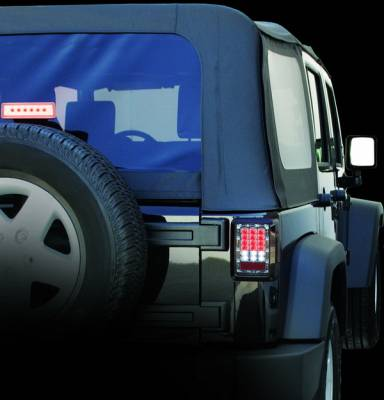 Headlights & Tail Lights - LED Tail Lights - In Pro Carwear - Jeep Wrangler IPCW Taillights - LED - 1 Pair - LEDT-420C